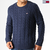 /achat-pulls/tommy-hilfiger-jeans-pull-essential-cable-7256-bleu-marine-192579.html