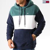 /achat-sweats-capuche/tommy-hilfiger-jeans-sweat-capuche-bold-stripe-7036-bleu-marine-blanc-vert-192580.html