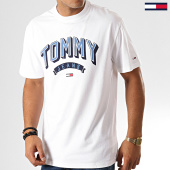 /achat-t-shirts/tommy-hilfiger-jeans-tee-shirt-essential-3d-logo-7014-blanc-192583.html