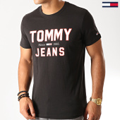 /achat-t-shirts/tommy-hilfiger-jeans-tee-shirt-essential-1985-logo-7067-noir-192584.html