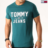 /achat-t-shirts/tommy-hilfiger-jeans-tee-shirt-essential-1985-logo-7067-vert-192585.html