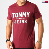 /achat-t-shirts/tommy-hilfiger-jeans-tee-shirt-essential-1985-logo-7067-bordeaux-192590.html