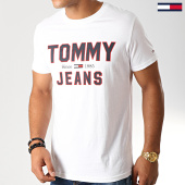 /achat-t-shirts/tommy-hilfiger-jeans-tee-shirt-essential-1985-logo-7067-blanc-192591.html
