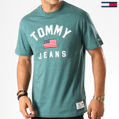 /achat-t-shirts/tommy-hilfiger-jeans-tee-shirt-usa-flag-7068-vert-192593.html
