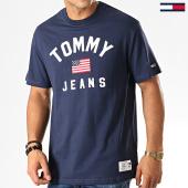 /achat-t-shirts/tommy-hilfiger-jeans-tee-shirt-usa-flag-7068-bleu-marine-192594.html
