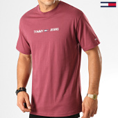 /achat-t-shirts/tommy-hilfiger-jeans-tee-shirt-small-logo-7231-bordeaux-192597.html