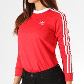 /achat-t-shirts-manches-longues/adidas-tee-shirt-manches-longues-femme-a-bandes-ed7480-rose-fushia-blanc-192867.html