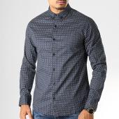 /achat-chemises-manches-longues/deeluxe-chemise-manches-longues-jaipur-bleu-marine-blanc-192830.html