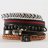 /achat-bracelets/deeluxe-lot-de-4-bracelets-apache-noir-marron-192857.html