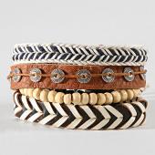 /achat-bracelets/deeluxe-lot-de-4-bracelets-apache-blanc-marron-192859.html