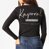 /achat-t-shirts-manches-longues/kaporal-tee-shirt-femme-manches-longues-col-v-xouth-noir-192730.html