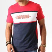/achat-t-shirts/kaporal-tee-shirt-otys-rouge-bleu-marine-blanc-192804.html