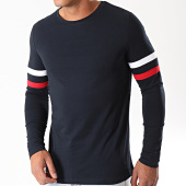 /achat-t-shirts-manches-longues/lbo-tee-shirt-manches-longues-avec-bandes-tricolores-910-bleu-marine-192919.html