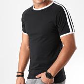 /achat-t-shirts/lbo-tee-shirt-bandes-blanches-913-noir-192921.html