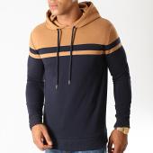 /achat-sweats-capuche/lbo-sweat-capuche-bicolore-923-bleu-marine-camel-192924.html
