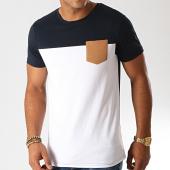 /achat-t-shirts-poche/lbo-tee-shirt-poche-930-blanc-bleu-marine-camel-192925.html