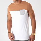 /achat-t-shirts-poche/lbo-tee-shirt-poche-931-blanc-camel-gris-chine-192926.html