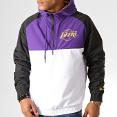 /achat-coupe-vent/new-era-coupe-vent-col-zippe-capuche-nba-los-angeles-lakers-12033458-violet-blanc-noir-192713.html
