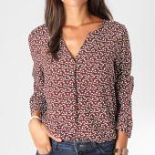 /achat-t-shirts/vero-moda-top-femme-siri-marron-floral-192875.html