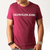 /achat-t-shirts/calvin-klein-tee-shirt-institutional-logo-7856-bordeaux-blanc-192974.html