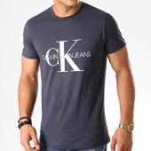 /achat-t-shirts/calvin-klein-tee-shirt-monogram-4314-bleu-marine-192994.html