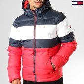 /achat-doudounes/tommy-jeans-doudoune-rugby-stripe-puffer-7255-rouge-bleu-marine-blanc-192954.html