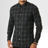 /achat-chemises-manches-longues/selected-chemise-manches-longues-a-carreaux-slimwood-bleu-marine-vert-kaki-193182.html