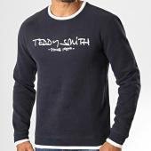 /achat-sweats-col-rond-crewneck/teddy-smith-sweat-crewneck-siclass-bleu-marine-fonce-blanc-193069.html