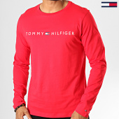 /achat-t-shirts-manches-longues/tommy-hilfiger-jeans-tee-shirt-manches-longues-cn-logo-1171-rouge-193108.html