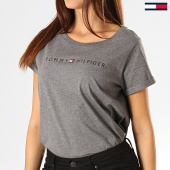 /achat-t-shirts/tommy-hilfiger-jeans-tee-shirt-femme-rn-logo-1618-gris-chine-193137.html