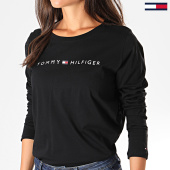 /achat-t-shirts-manches-longues/tommy-hilfiger-jeans-tee-shirt-manches-longues-femme-cn-logo-1910-noir-193139.html