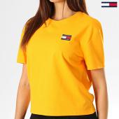 /achat-t-shirts/tommy-hilfiger-jeans-tee-shirt-femme-badge-6813-orange-193146.html