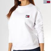 /achat-sweats-col-rond-crewneck/tommy-jeans-sweat-crewneck-femme-badge-6814-blanc-193147.html