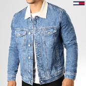 /achat-vestes-jean/tommy-hilfiger-jeans-veste-jean-regular-trucker-7052-bleu-denim-beige-193197.html