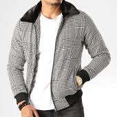 /achat-vestes/uniplay-veste-zippee-col-fourrure-a-carreaux-v25-noir-blanc-193123.html