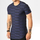 /achat-t-shirts-longs-oversize/uniplay-tee-shirt-oversize-uy439-bleu-marine-noir-193148.html