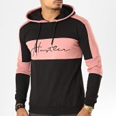 /achat-sweats-capuche/uniplay-sweat-capuche-a-bandes-hd-1-noir-rose-193172.html