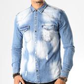 /achat-chemises-manches-longues/uniplay-chemise-jean-manches-longues-096-bleu-denim-193196.html