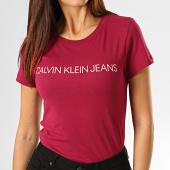 /achat-t-shirts/calvin-klein-jeans-tee-shirt-slim-femme-7940-bordeaux-193230.html
