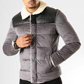 /achat-vestes/frilivin-veste-col-mouton-ab6610-gris-noir-193335.html