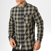 /achat-chemises-manches-longues/produkt-chemise-manches-longues-a-carreaux-dek-graham-vert-kaki-noir-193324.html