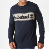 /achat-t-shirts-manches-longues/timberland-tee-shirt-manches-longues-cut-and-sew-logo-1z24-bleu-fonce-gris-noir-193361.html