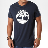 /achat-t-shirts/timberland-tee-shirt-brand-1l6o-bleu-marine-blanc-193363.html