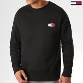 /achat-sweats-col-rond-crewneck/tommy-hilfiger-jeans-sweat-crewneck-badge-6592-noir-193299.html
