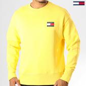 /achat-sweats-col-rond-crewneck/tommy-jeans-sweat-crewneck-badge-6592-jaune-193303.html