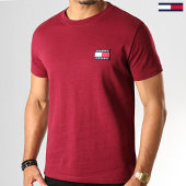 /achat-t-shirts/tommy-hilfiger-jeans-tee-shirt-badge-6595-bordeaux-193327.html