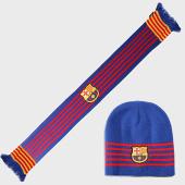 /achat-echarpes-foulards/fc-barcelona-coffret-bonnet-reversible-et-echarpe-b19027-bleu-roi-193524.html