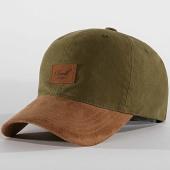 /achat-casquettes-de-baseball/reell-jeans-casquette-snapback-suede-tone-vert-kaki-193489.html