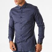 /achat-chemises-manches-longues/mtx-chemise-manches-longues-floral-nh160-bleu-marine-blanc-noir-193683.html
