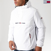 /achat-vestes/tommy-hilfiger-jeans-veste-outdoor-padded-popover-7121-blanc-193815.html